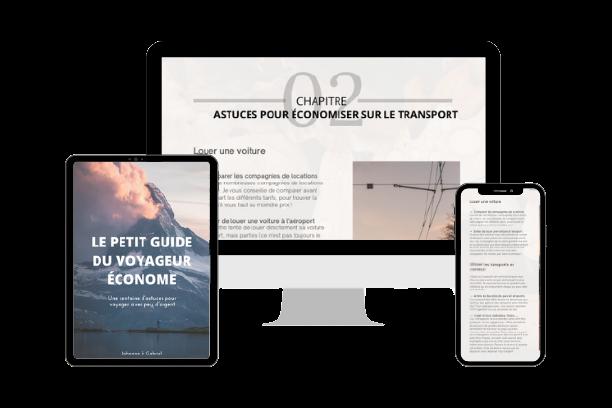 """Recevez gratuitement notre ebook """"Le petit guide du voyageur économe"""""""